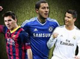 hazard warning... chelsea star is on course to be as good as ronaldo and messi