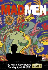 i ♥ new york logo designer made a gorgeous psychedelic 'mad men' season 7 poster