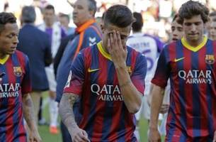 Barcelona's title defense takes a huge blow, edged out by Valladolid
