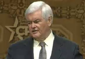 gingrich at cpac: obama 'can be as ineffective in key largo as he was in the white house'