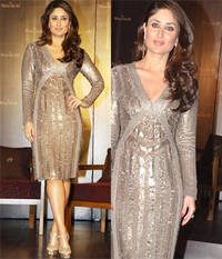 Kareena Kapoor in gold : Blingy and shiny!